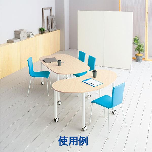 キャスターテーブル オーバル型