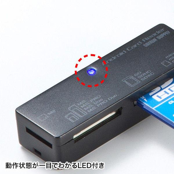 サンワサプライ アンドロイド対応カードリーダー ADR-AML22BK 1個 (直送品)