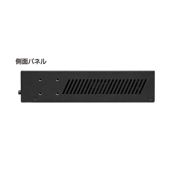 サンワサプライ PoE対応スイッチングHUB(4ポート通常ポート+4ポートPoE対応) LAN-SWHPOE44 1個 (直送品)