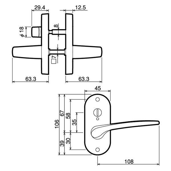 川口技研 小判座表示錠 B/S 50mm JL-20-4K-TBr (直送品)