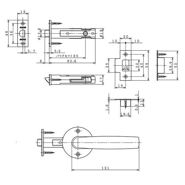 川口技研 戸襖錠 JL-24-2M-SG (直送品)