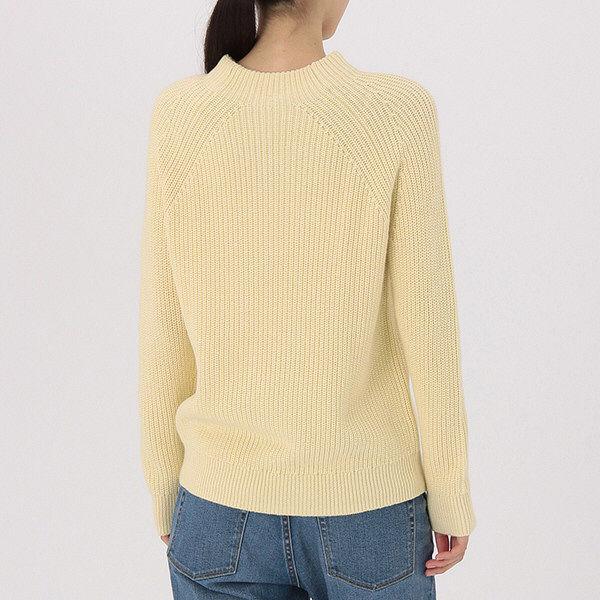 無印 畦編みモックネックセーター 婦人S