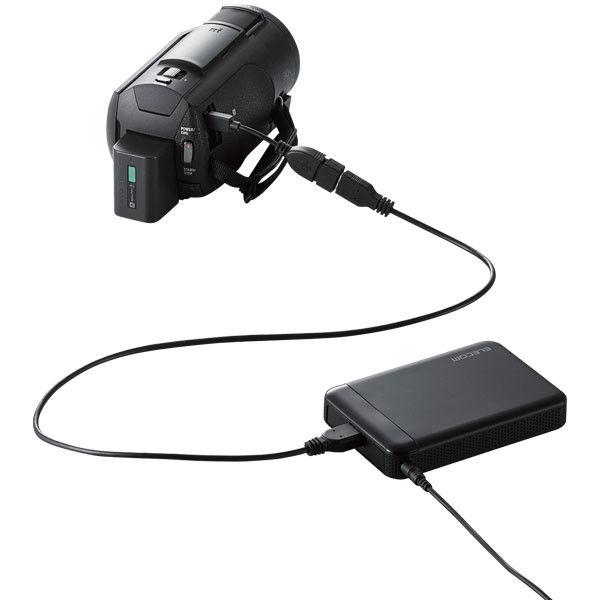 ELECOM ELECOM Portable Drive USB3.1 500GB Black/ビデオカメラ向け ELP-EDV005UBK 1個 (直送品)