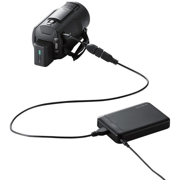 ELECOM ELECOM Portable Drive USB3.1 2TB Black/ビデオカメラ向け ELP-EDV020UBK 1個 (直送品)