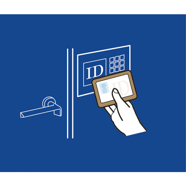 サクラクレパス ノータム 入退室エラー防止カード 青 UNH-103#36