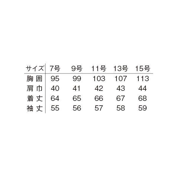 明石スクールユニフォームカンパニー レディースジャケット ブルー 15 UN169-6-15 (直送品)