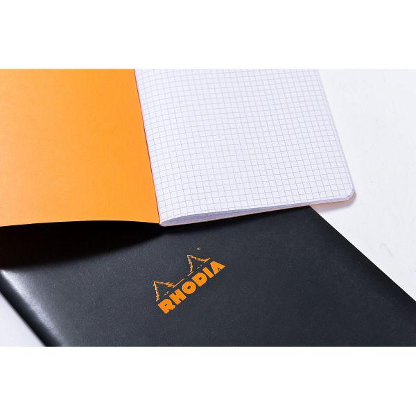 RHODIA(ロディア) Stapled notebook(ホチキス留めノート) 方眼 mini ブラック cf119159 1セット(10冊入)(直送品)