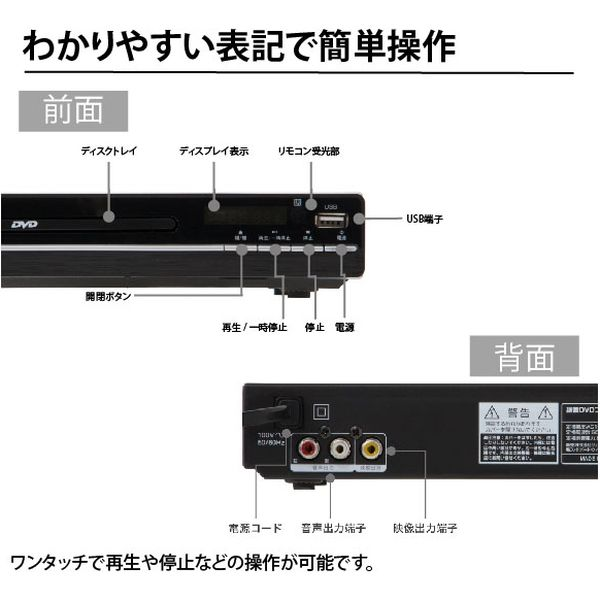 ウィンコド 据置DVDプレーヤー TH-DVD01 1台(直送品)
