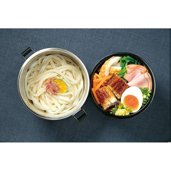 真空ステンレス丼ランチジャー800ml青