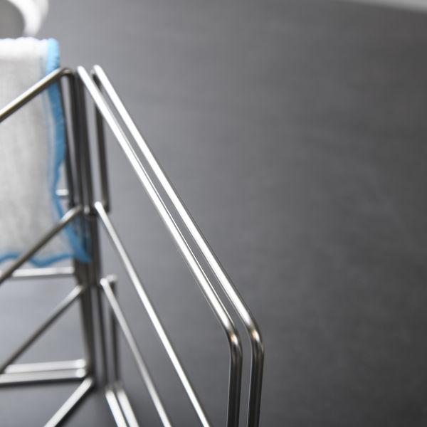 折りたたみ式ふきん掛けステンレスシルバー
