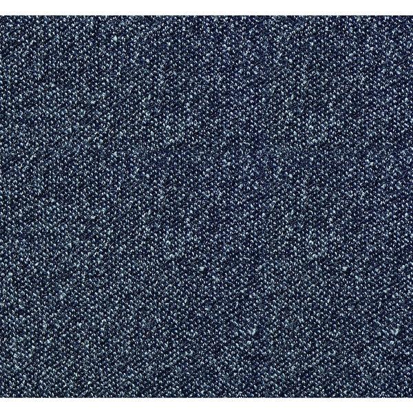 オカムラ ライブス ラウンジチェア エクストラハイバック 肘無 木ベース/ライト 張地:インターロック インディゴ/白 L143EZ FXW4 1脚(直送品)