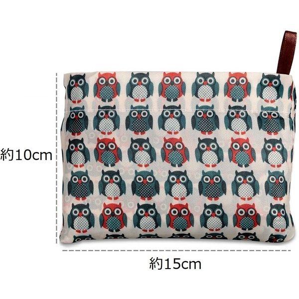 創コミュニケーションズ 大容量エコバッグ(折り畳み式)【B】猫ちゃん(ブルー柄) HJM-100562(直送品)