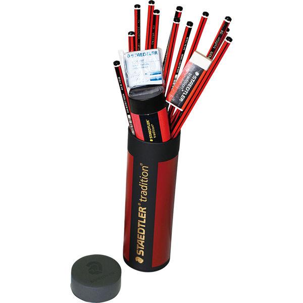 トラディション鉛筆 メタル缶セット