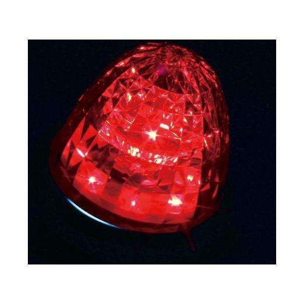 YAC 槌屋ヤック LEDマーカーランプ 超流星マーカー レッド/レッド(光) 12/24V CE-163(直送品)
