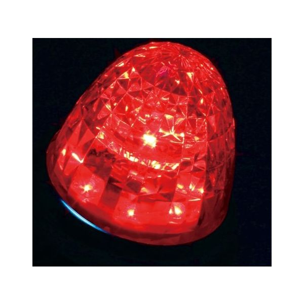 YAC 槌屋ヤック LEDマーカーランプ 超流星マーカー クリア/レッド(光) 12/24V CE-163C(直送品)