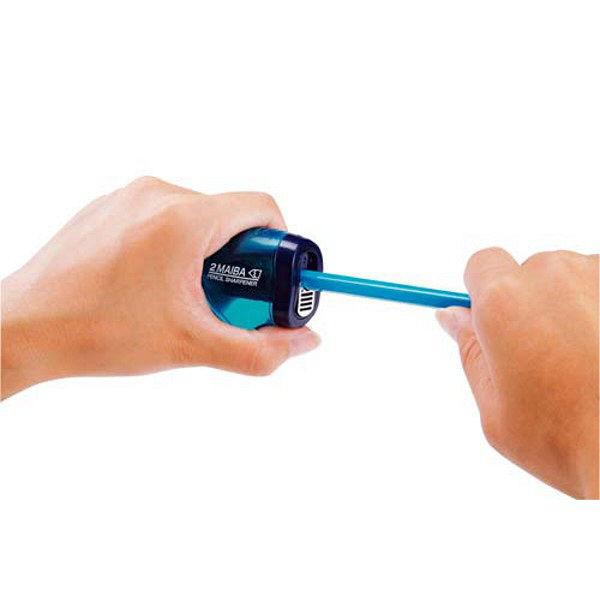 クツワ 2枚刃鉛筆削り(ブルー) RS021BL 5個 (直送品)