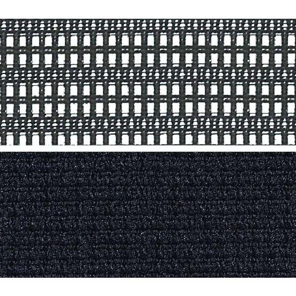 バロン ハイチェア ローバック 固定肘 背スタンダード・座クッション シルバー×ホワイト ブラック CP58DW FDF1(直送品)