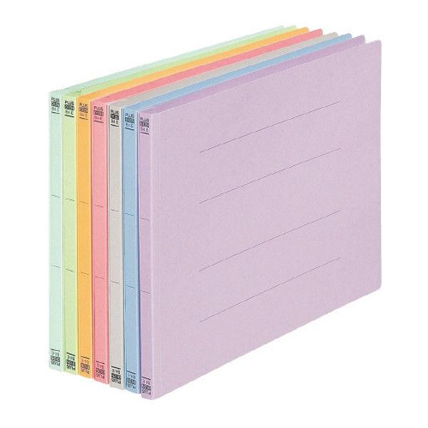 プラス フラットファイル B4E 桃 10冊 NO.012N10PK (直送品)
