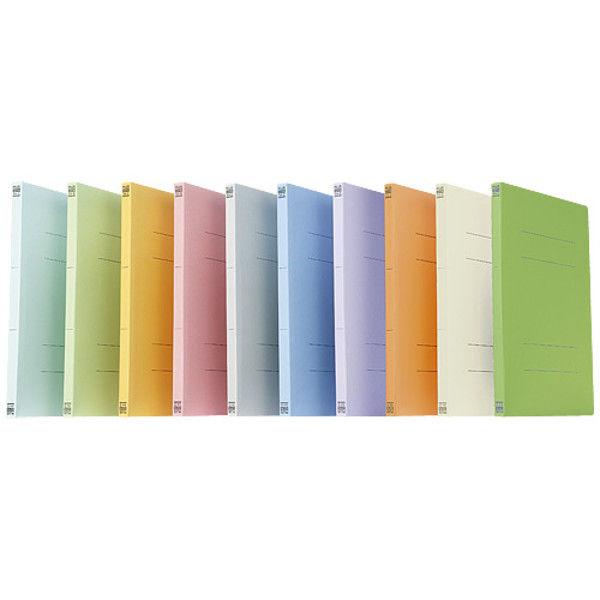 プラス フラットファイル A4S 緑 300冊 NO.021N GR(300) 1セット (直送品)