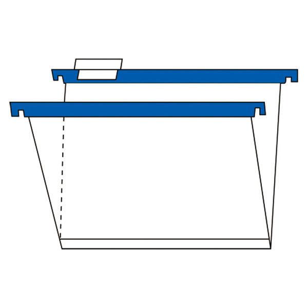 プラス PPハンガーフォルダー 青 10枚 PHF-A4BL(10) (直送品)