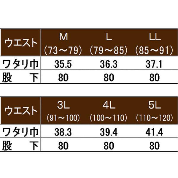 寅壱 シャーリングスラックス シルバー 5L 1291-702-37-5L (取寄品)