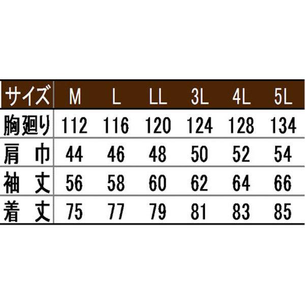 寅壱 シャツ(長袖) シルバー 5L 2151-125-37-5L (取寄品)