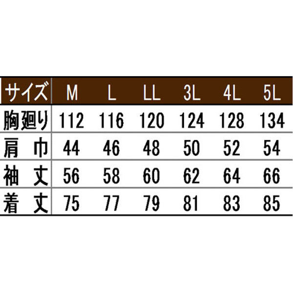 寅壱 シャツ(長袖) スミグレー 3L 2151-125-77-3L (取寄品)