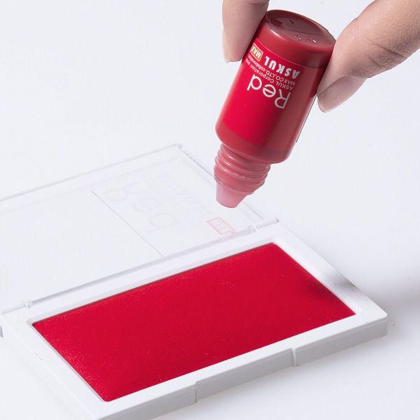マックス スタンプ台補充インク クリアースタイル用 赤 18ml