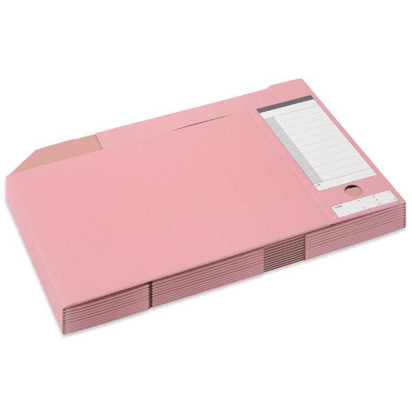 ボックスファイル A4横 ピンク