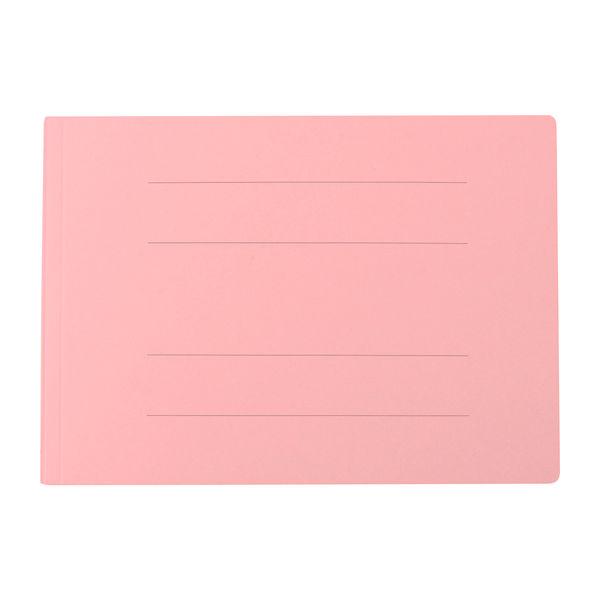 プラス フラットファイル厚とじ500 A4ヨコ ピンク 87998 1袋(10冊入)