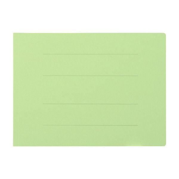 フラットファイル厚とじA4横 緑100冊