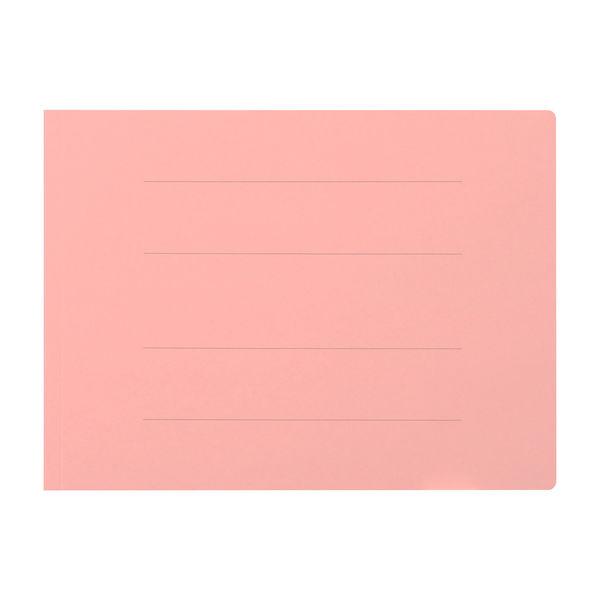 プラス フラットファイル厚とじ A4ヨコ 10冊 ピンク No.022NW 樹脂製とじ具