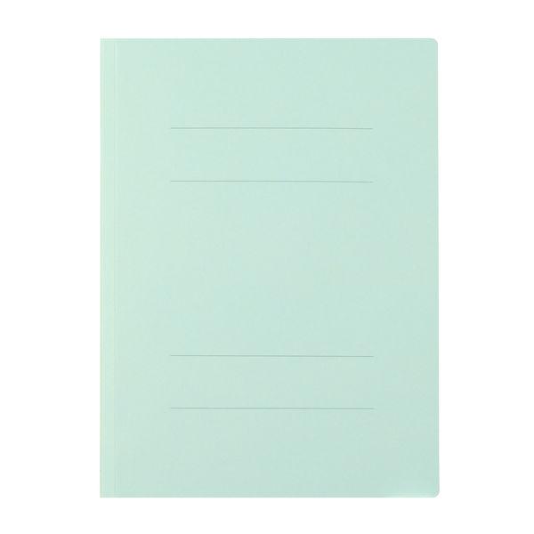 プラス フラットファイル厚とじ A4タテ 10冊 ブルー No.021NW 樹脂製とじ具