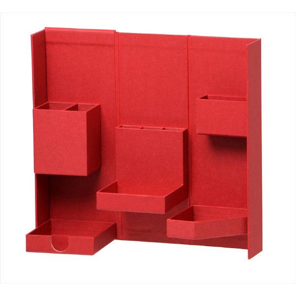 ナカバヤシ ライフスタイルツール ボックスM ワインレッド 赤 LST-B02WR 1セット(3個:1個×3)