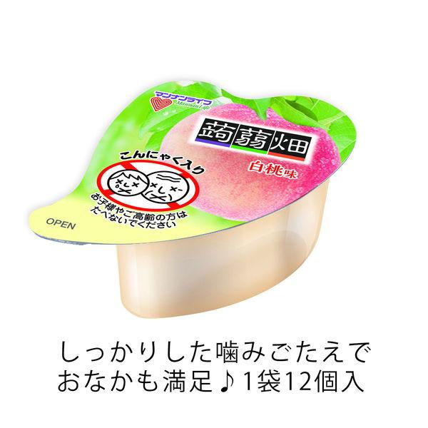 マンナンライフ 蒟蒻畑 白桃味 6袋