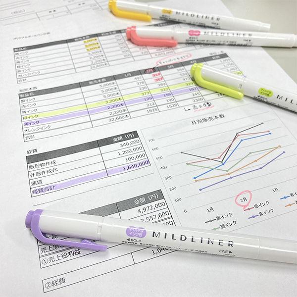 蛍光ペン マイルドライナー ピンク