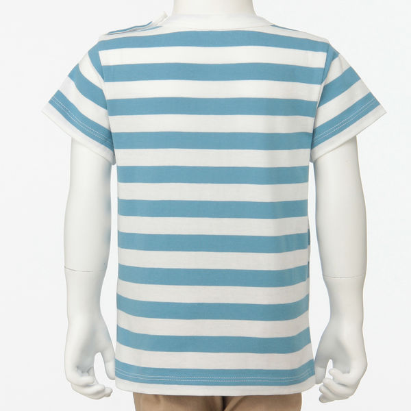 無印 しましま半袖Tシャツ ベビー 80