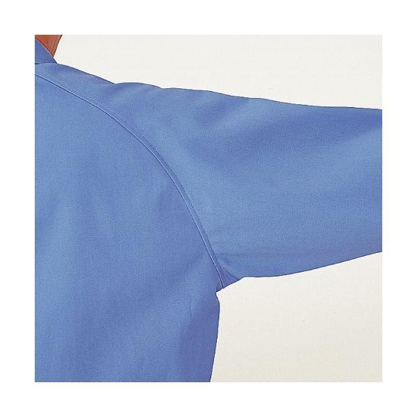 ミドリ安全 綿100% 男子長袖シャツ GS2371 上 シルバーグレー L 1着(直送品)