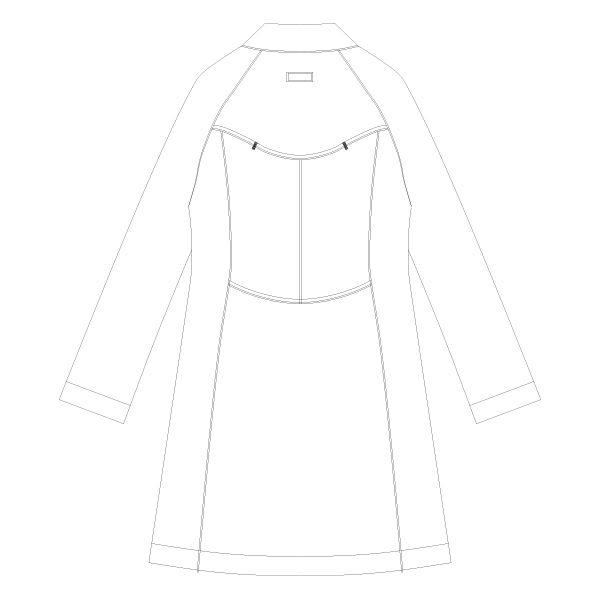 KAZEN クラリタレディス診察衣(ハーフ丈) ドクターコート 長袖 ホワイト シングル LL CMA101 (直送品)