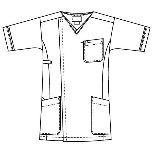 メンズジップスクラブ 1016EW-5 ホワイト×グレー S (直送品)