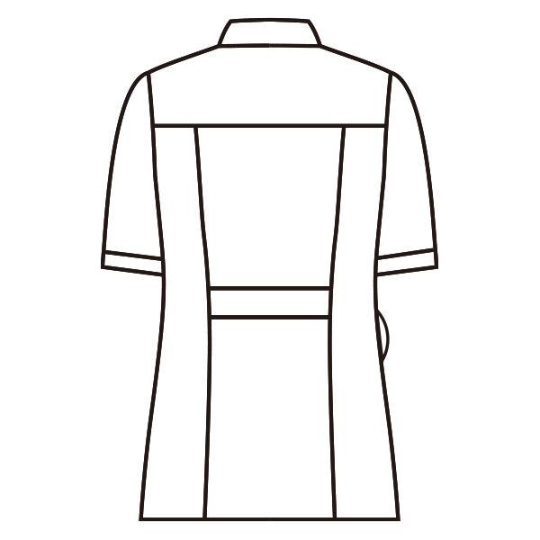 住商モンブラン ラウンドカラージャケット 半袖 サックス S 73-1944 (直送品)