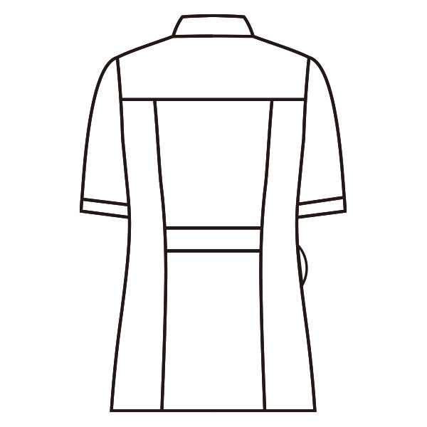 住商モンブラン ラウンドカラージャケット 半袖 ホワイト M 73-1940 (直送品)