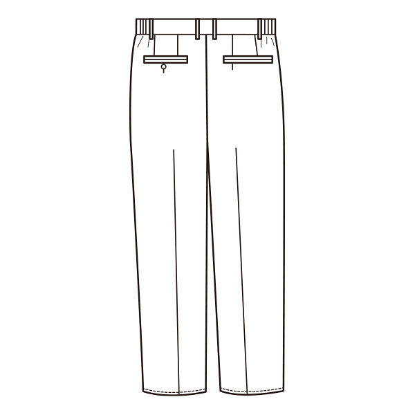 KAZEN メンズスラックス 医療白衣 ホワイト 4L 252-20 (直送品)