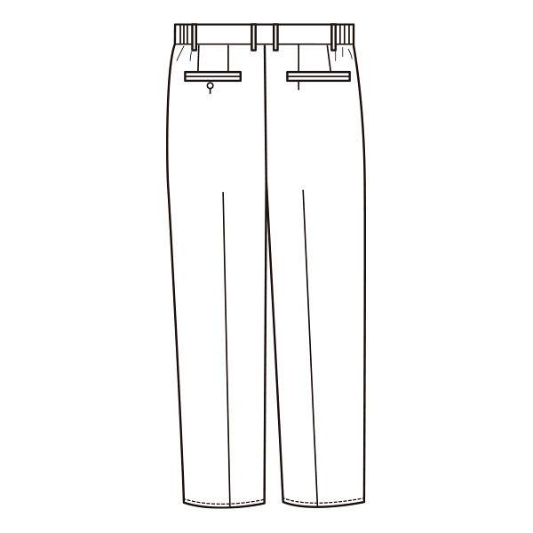 KAZEN メンズスラックス 252-20 ホワイト S (直送品)