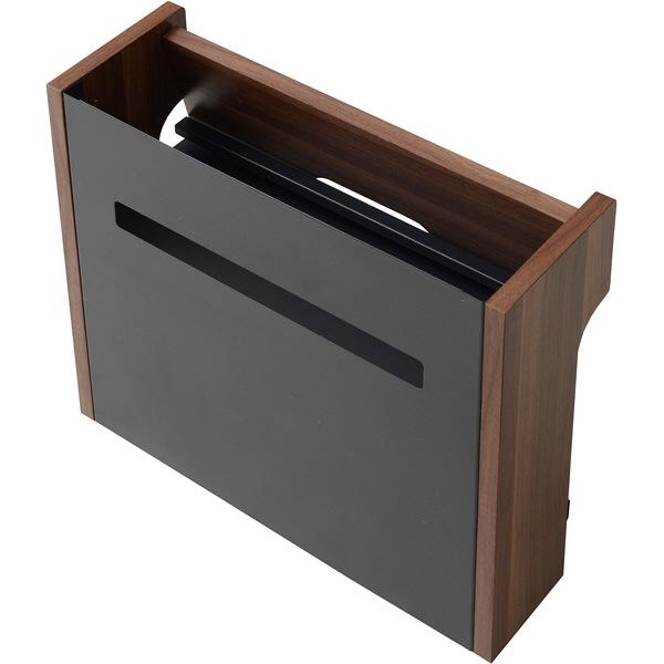 YAMAZEN(やまぜん) 配線収納BOX ハイタイプ ダークブラウン/ブラック 1台 (直送品)