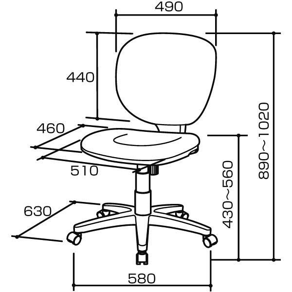 ナカバヤシ ラージバックチェア オフィスチェア 肘無し スカイブル- CRS-301SB 1脚 (直送品)