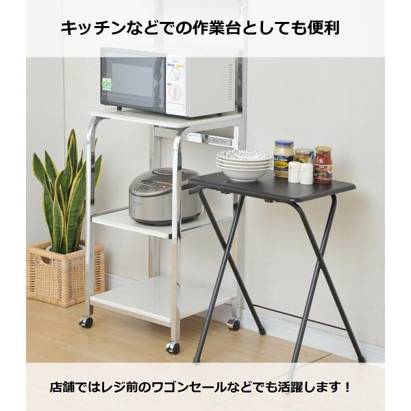 YAMAZEN(山善) ミニテーブルハイ ブラック 幅500×奥行480×高さ700mm 1台 (直送品)