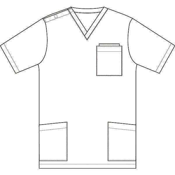 AITOZ(アイトス) ニットスクラブ(男女兼用) 半袖 ブルー M 861401-006-M (直送品)