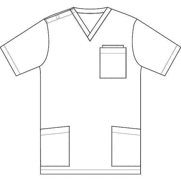 AITOZ(アイトス) ニットスクラブ(男女兼用) 半袖 ターコイズ S 861401-027-S (直送品)