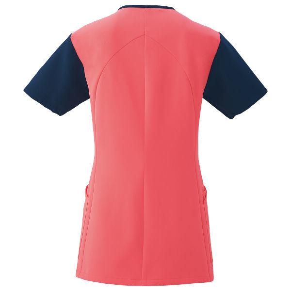 フォーク 医療白衣 ワコールHIコレクション レディスジップスクラブ (サイドジップ) HI701-3 リリスピンク×ダークネイビー M (直送品)